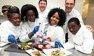 Catering Students Visit The Point