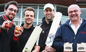 Howzat! Somerset County Cricket Players Get Behind The Cheeselympics!