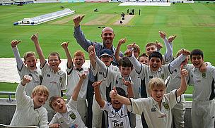 Kibworth CC Juniors Meet Their Heroes At Edgbaston