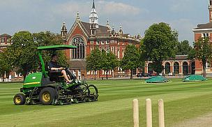 College Cricket Pitches Get A Fine Cut