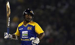 Kumar Sangakkara in action for Sri Lanka