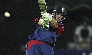 Phil Mustard playing limited-overs cricket for England