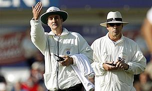 Billy Bowden gives a batsman out
