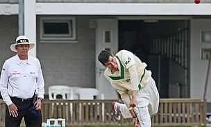 George Dockrell bowls for Ireland against Netherlands
