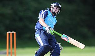 Calum MacLeod grounds his bat.