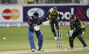 Kushal Perera plays a shot