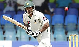 Mohammad Hafeez plays a shot