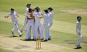 England celebrate a wicket on the final day