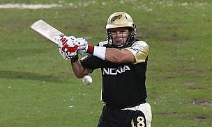 Brad Hodge hits a shot