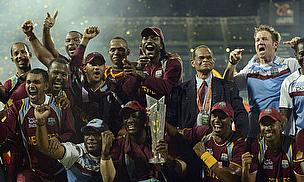 West Indies celebrate their 2012 title win