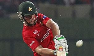 Brendan Taylor plays a shot