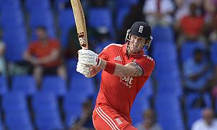 Ben Stokes plays a shot