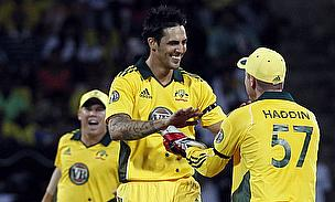 Johnson and Haddin celebrate