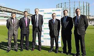 L-R: Omar Khan (Lycamobile), Chris Tooley (Lycamobile), Richard Thompson (Surrey CCC), Chris Liveing (Lycamobile), Nick Hoyle (Essentially) & Richard