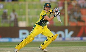 Alyssa Healy bats for Australia