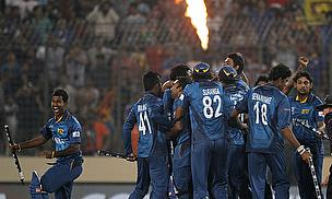 Sri Lanka celebrate their ICC WT20 win