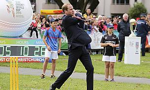 Prince William hits out during his royal visit to New Zealand, co-host of the 2015 World Cup