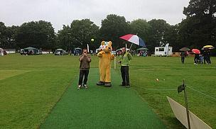 Pudsey on the speed gun challenge!