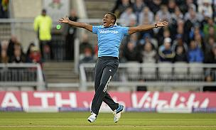 Chris Jordan was man of the match for his haul of five for 29