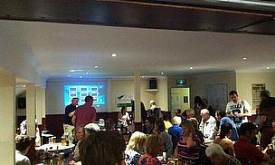 Action from the Race Night, which raised more than £1,000
