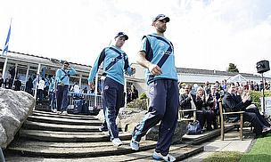 Scotland players walk out