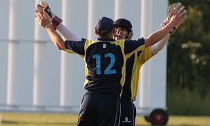 Celebration time as the Twenty20 side take a wicket