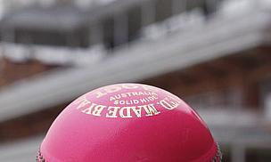 A pink cricket ball