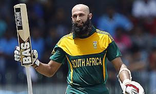 Hashim Amla celebrates his century