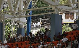 Fans watch an international in Grenada