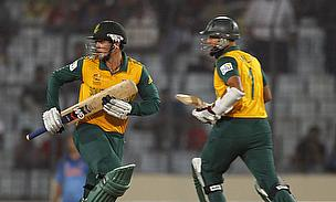 Quinton de Kock (left) and Hashim Amla have now scored put together four century partnerships together at the top of the order