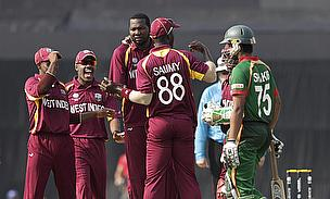 Sulieman Benn (centre) has been recalled to the West Indies' Twenty20 International squad