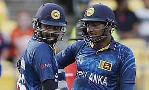 Thirimanne (left) and Sangakkara (right) put on an unbeaten 212-run stand as Sri Lanka outclassed England