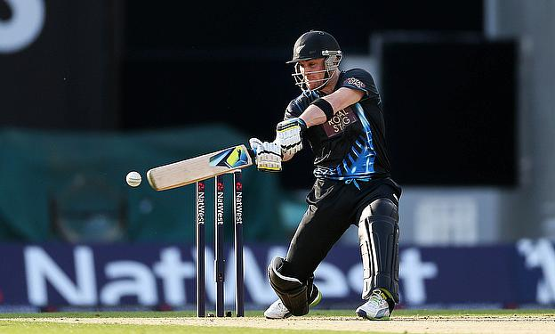 Brendon McCullum plays a cut shot