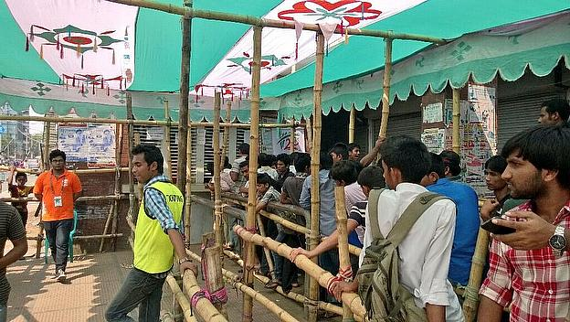 Fans eager to get into the ground in Dhaka to watch the final warm-up games