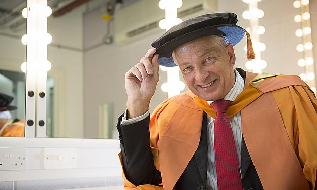 David Gower has been awarded an Honorary Doctorate by DMU