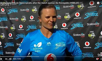 Strikers captain Suzie Bates speaks after the match against the Renegades WBBL