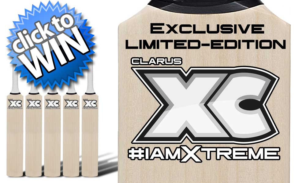 Win An Exclusive Limited Edition Branded Cricket Bat