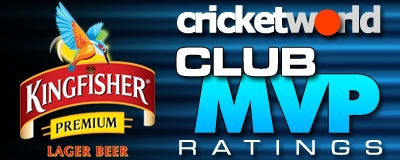Kingfiher Beer Cricket World Club MVP Ratings