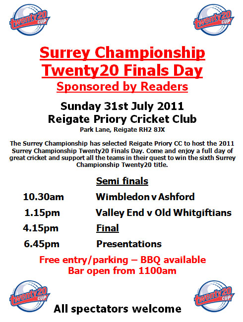 Surrey Championship T20 Finals Day