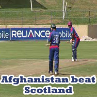 Afghanistan beat Scotland