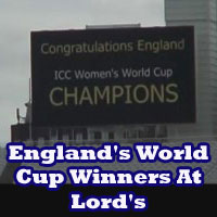England's World Cup winners at Lord's