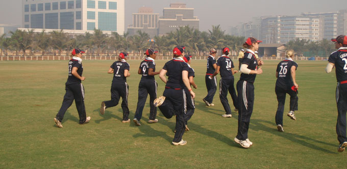 The team warms up in Mumbai